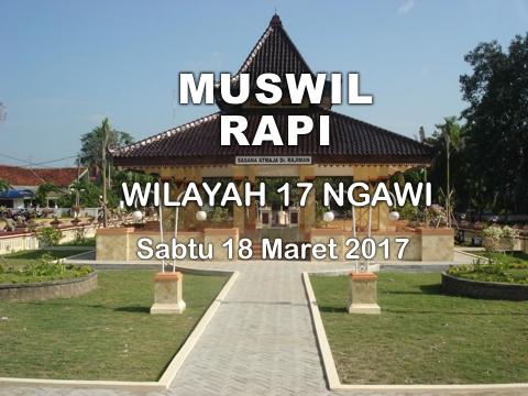 MUSWIL RAPI Wilayah 17 Ngawi