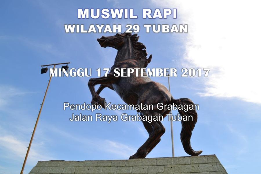 MUSWIL RAPI Wilayah Tuban 2017
